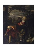 Flight into Egypt Poster by Jacopo Robusti Tintoretto