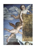 Putti with Butterfly Wings (Detail) Art by Andrea Mantegna