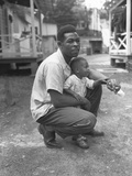 African American Miner with His Little Boy. Grant Town, Marion County, West Virginia Prints by Russell Lee