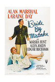 Bride by Mistake, Laraine Day (Front), Alan Marshal, 1944 Art