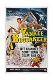 Yankee Buccaneer, Left: Suzan Ball; Center: Jeff Chandler; Bottom Right: Scott Brady, 1952 Giclee Print