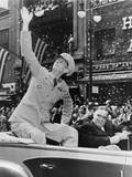 General Jonathan Wainwright, Waving to Crowd During Ticker Tape Parade, New York City Poster