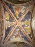 Vaulted Ceiling with Four Evangelists and their Symbols Posters by Lorenzo di Pietro