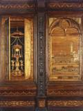Wood Inlay Decoration, Choir of Abbey of Monte Oliveto Photo by Fra Giovanni Giocondo da Verona