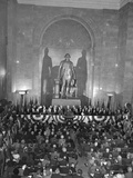 President Harry Truman Speaking at George Washington Statue Unveiling Photo