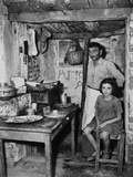 Father and Daughter in Sparse Refugee Quarters During the Greek Civil War, August 29, 1947 Posters