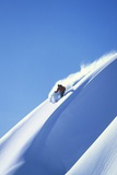 Skier Racing Down Mountain Slope Prints