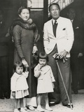 Bao Dai, King of Annam (Now Central Vietnam) with His Family in Paris. June 6, 1939 Posters