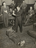 Reenactment of the Beheading of Lt. Darwin Emry During War Crimes Trial in Yokohama, Japan Posters