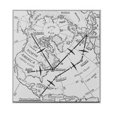 Routes of U.S. Air Force C-54 'Flying Boxcars' from the North America to Frankfurt, Germany Prints