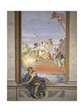 Antony and Cleopatra. Tromp L'Oeil Scene Within Architecture, 1779 Prints by Giovanni Scajaro