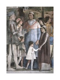 Meeting Between Ludovico Gonzaga and His Sons Poster by Andrea Mantegna