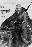German Motorcycle on the Soviet (Russian) Eastern Front in the Winter of 1942 Photo
