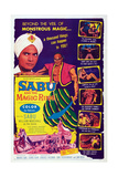 Sabu and the Magic Ring, Top from Left: Sabu, William Marshall, 1957 Print