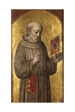 Saint Bernardino. 15th C. Painting on Board. Church of Saint Francis, Lodi, Italy Prints