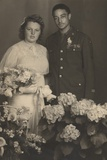 Wedding Portrait of an African American World War IInCorporal with His New Bride in 1945 Photo