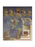 Saint Francis in Prayer, Vision of Heavenly Thrones Posters by  Giotto