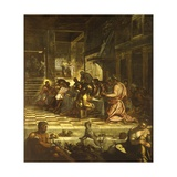 Last Supper Print by Jacopo Robusti Tintoretto