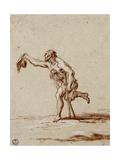 Crippled Beggar Poster af Alessandro Magnasco