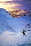 Skier on Mountain Slope Photo