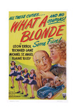 What a Blonde, Kissing from Left: Leon Errol, Veda Ann Borg, 1945 Posters