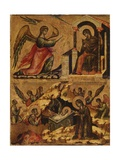 Annunciation and Nativity Poster von Paolo Veneziano