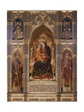 Virgin and Child with Saints Giclée-Premiumdruck von Stefano Veneziano