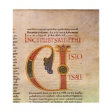 Illuminated Capital from the Bible, Book of Isaiah, 9-10th C Posters