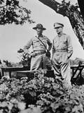 General Douglas Macarthur (Right) Shown Here with Major General Jonathan Wainwright Print