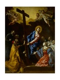 Jesus Shows the Cross to the Theatines as a Standard for their Lives Posters by Giovanni Lanfranco