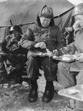 President-Elect Dwight Eisenhower Eating with Soldiers in Korea on Dec. 1952 Posters