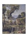Landscape with St. Jerome Prints by Giacinto Gigante