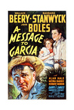 A Message to Garcia, from Left: Wallace Beery, Barbara Stanwyck, John Boles, 1936 Giclee Print