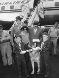 Rintintin Arrives in Washington, D.C. with a Group of Boy Scouts on April 9, 1959 Photo