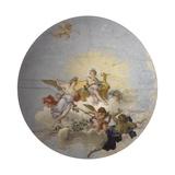 Crowned Virtue Prints by Giambattista Mengardi