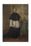 Portrait of Bishop John Morosini Print by Alessandro Longhi