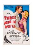 Three Men in White, (Aka 3 Men in White), from Left: Van Johnson, Marilyn Maxwell, 1944 Poster