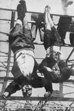 Executed Benito Mussolini and Mistress, Clara Petacci, Hanging by Feet. Milan, Italy, May 1945 Prints