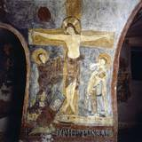 Crucifixion with the Abbot Epiphanius Kneeling Posters