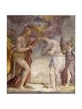Kristi dåb Plakater af Lomazzo Giuseppe Meda