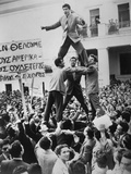 Greek Students Protest Against British Occupation of Cyprus Photo