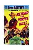 Beyond the Purple Hills, Gene Autry, Champion the Wonder Horse, 1950 Prints