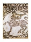 Mosaic Floor with Centaur Playing a Horn, 12th C Print
