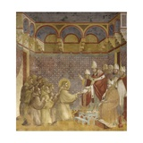 Saint Francis and Friars Receiving Franciscan Rule from Pope Posters by  Giotto
