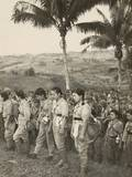 Japanese Nurses and Soldiers Surrendering to Americans on Cebu Island, in the Philippines Prints