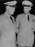 Generals Dwight Eisenhower and Omar Bradley, July 19, 1948 Photo