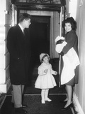 Kennedy Family Returns from Palm Beach, Florida on Feb. 4, 1961 Photo