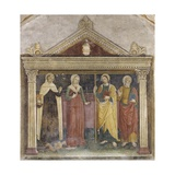 Sts. Alberto, Apollonia, James and Philip Prints by Paolo da Caylina the Old