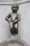 The Manneken Pis Sculpture in Brussels, February 2, 2009 Photo