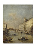 Venice or Rio Dei Mendicanti with Gondolas, 1780-99 Prints by Francesco Guardi